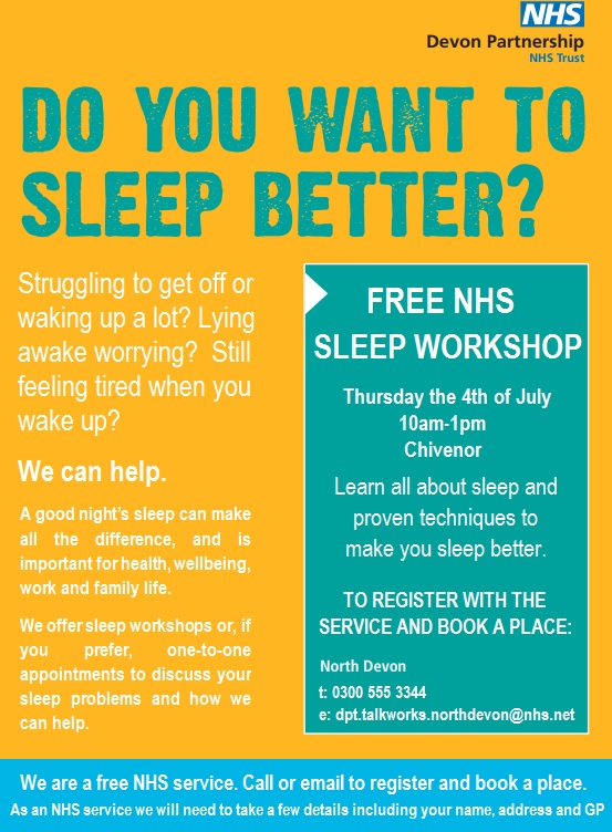 Free NHS Sleep Workshop